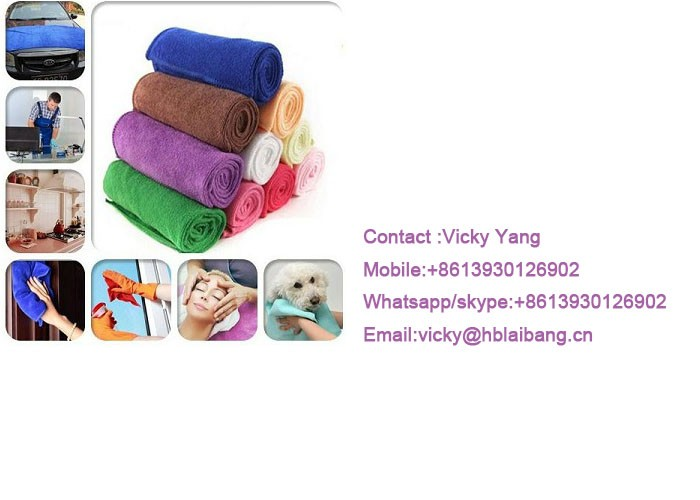 Custom size logo printed microfiber cleaning cloth