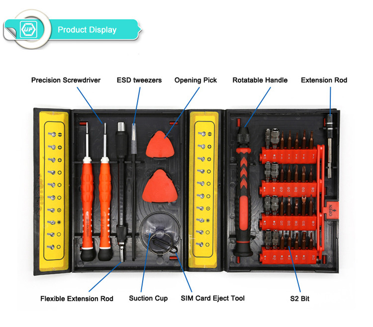 38 in 1 Laptop Mobile phone Repair Tools Kit Precise Screwdriver Set Hand tools Repair for Cell Phones