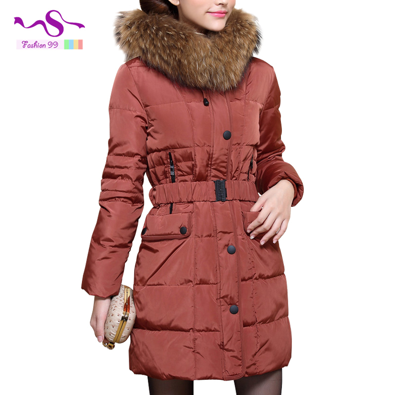 Korean womens winter jackets and coats 2015 new fashion Slim Women in the long section Hooded lapel Down Jackets YT88