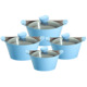 8pcs Diecasting Aluminum Ceramic soup pot cookware kitchenware set with silicon handle