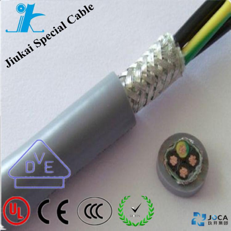 12 cores 0,5mm Elektrische geflochtene kabel Stahlgitter Abschirmung ...