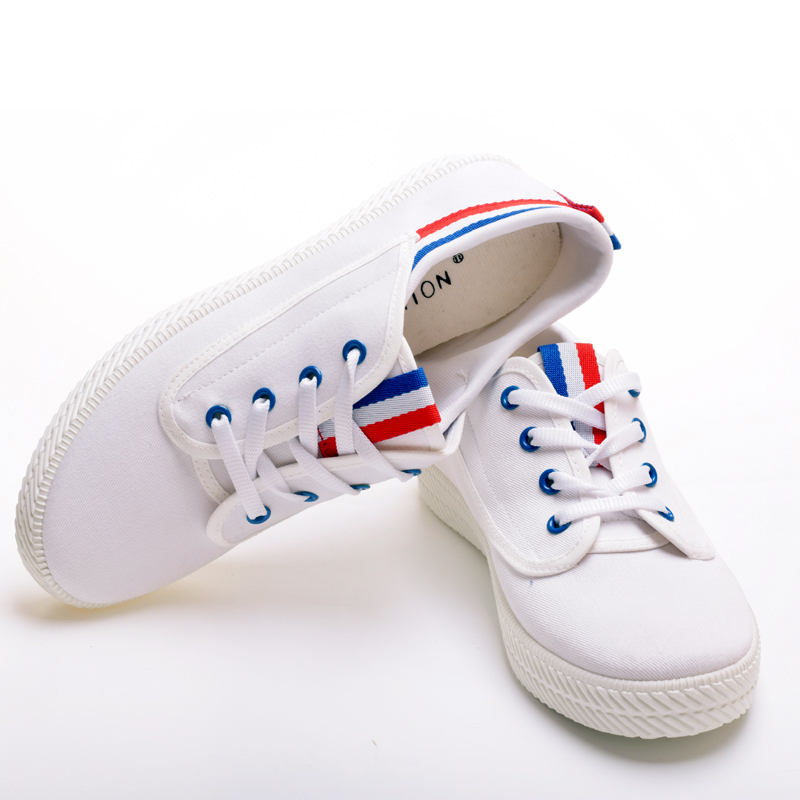 a7d4e8a2cb31 High quality shoe makers in china all star lace up white women school shoes