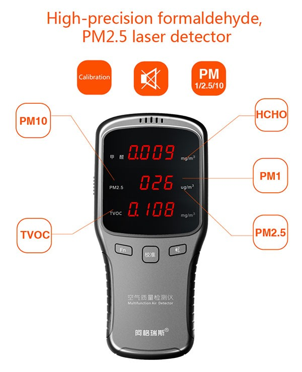 New Professional Tvoc Air Quality Tester / Pm2.5 And Pm10 Air ...