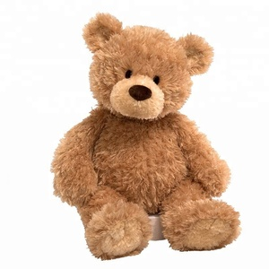 Wholesale plush customized light brown giant teddy bear with t shirt