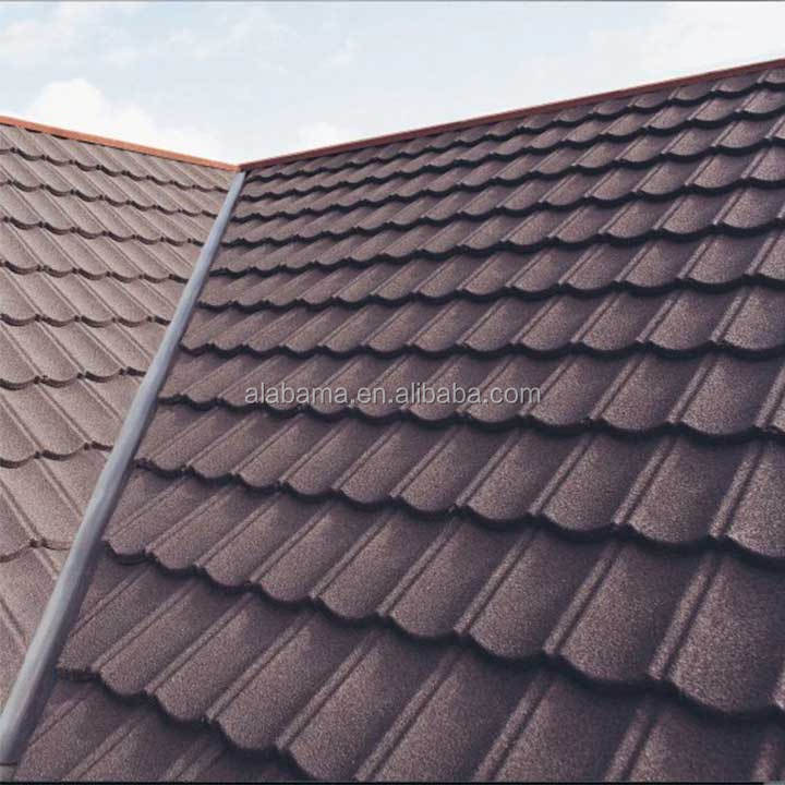Environment Friendly Flat Stone Coated Roof Tiles Bond
