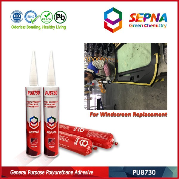 Polyurethane repair windscreen of car