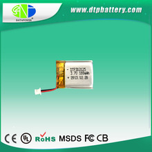 rechargeable DTP battery 302025 3.7v 100mah lithium battery
