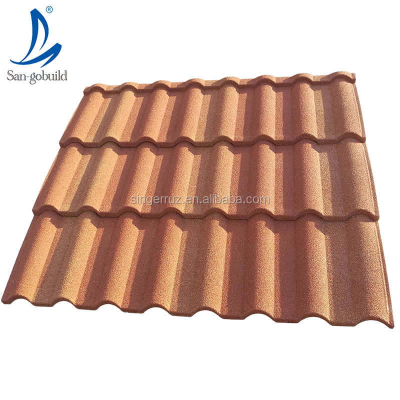 Widely used kerala lightweight roofing materials color stone coated metal tiles types of roof covering sheets can buy from china