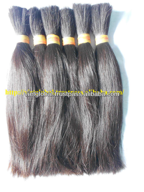 100% Virgin Remy Drawn Natural Black Hair in bulk