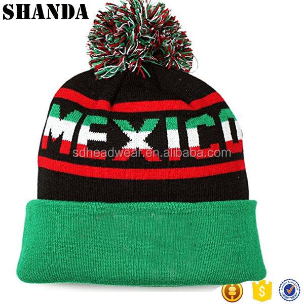 2b85fb53 Custom Made 100% Acrylic Beanie Pom Pom Winter Knit Hat Cap, View winter  knit hat , Shanda Product Details from Cangzhou Shanda Garments Co., ...