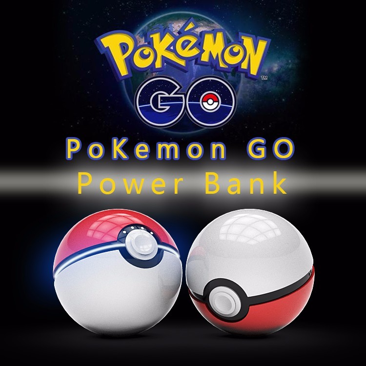 New Cute 12000mAh Power Bank Pokemons Go Pokeball Double USB Universal Smart Phone External Battery Charger With LED Light