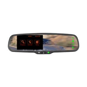 gps navigation rear view mirror WINCE 6.0 system with rear view system & bluetooth
