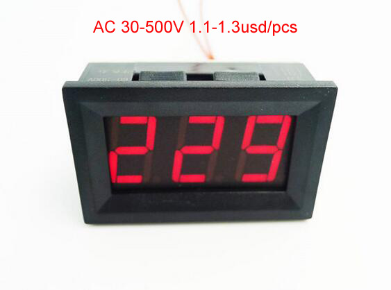 V27D DC Digital Voltmeter Vehicle Car Battery Panel Volt Meter 4.5-150V Green