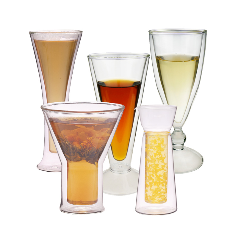 Double Wall Glass Tumbler For Cocktail BeerJuice Drinkware Glassware