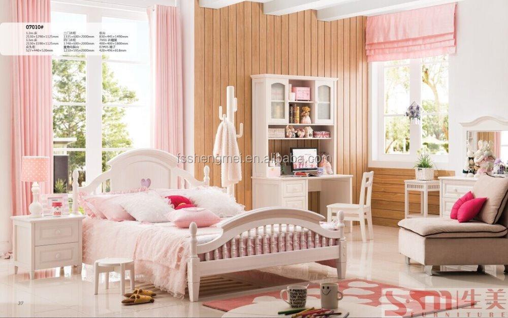 China moderne soild hout tiener kinderen slaapkamer meubilair sets goedkope kinderen meubels - Kleur kinderen slaapkamer ...