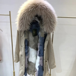 YRC230 Wholesale Clothing Latest Design Women Fox Fur Lined Parka plus size