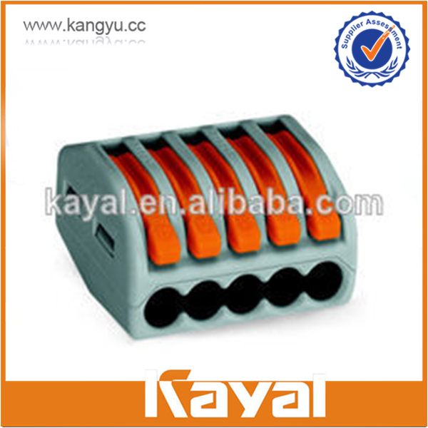 Equivalent Hot sale wago 5 compact connector, lever wire connector, high quality PA wire connector