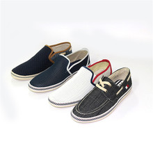 Long Canvas Loafer Men Shoes