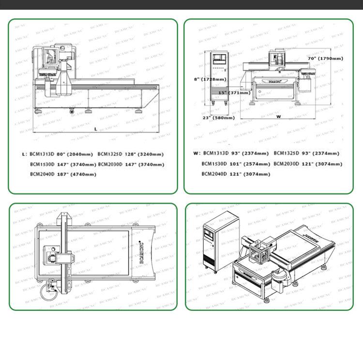 Intaglio del legno duplicatore 3 assi di legno di cnc di fresatura macchina