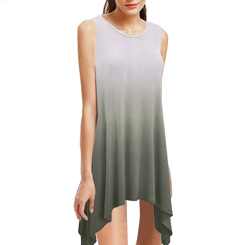 4fb2909514 Get Quotations · Teresamoon Hot Sale Women Loose Plain Dresses Casual Short  Sleeve Dresses