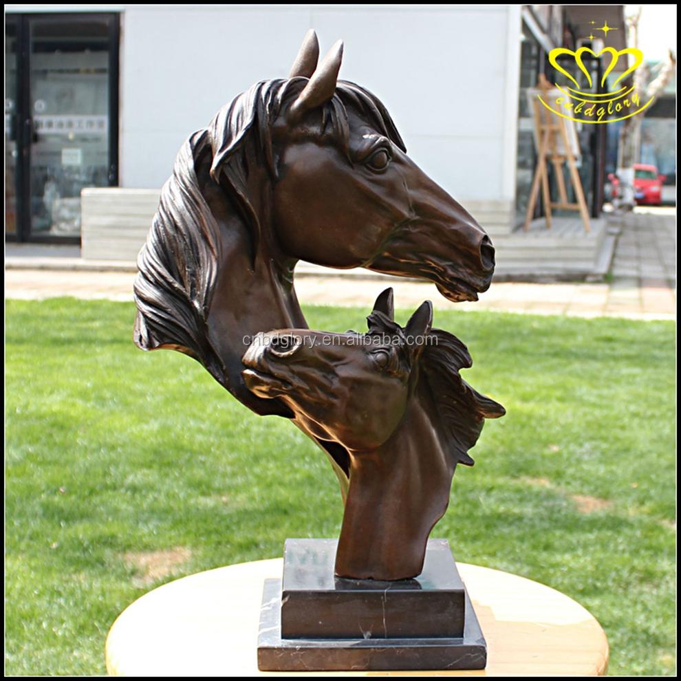 Wholesale For Sale Cast Bronze Horse Head Sculpture For Garden Home ...
