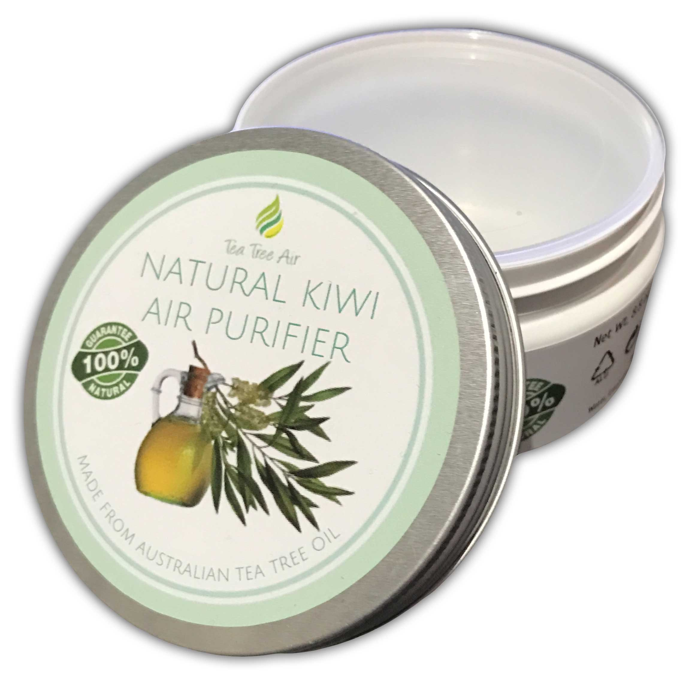 Tea Tree Air Purifier Natural KIWI ✔ Natural Air Purifier Cream, Kills Mold, Attacks Mildew, Air Freshener, Air Conditioner - Perfect for kitchen, bathroom or car! - $13.95 ✔ (2.2 oz)