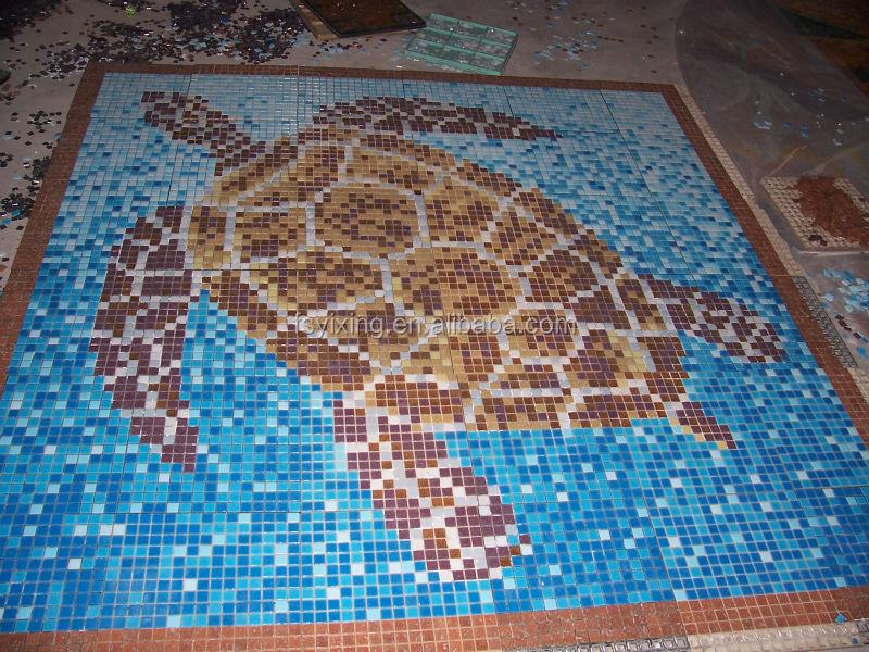 Piastrelle di vetro mosaico murale per la piscina mosaico bagno