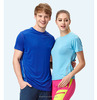 Wholesale sport dry fit, 100 polyester couple t-shirt