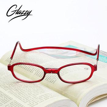cbc05d6d419 2018 Glazzy newest magnet reading glasses cheap PC material wholesale  reading glasses magnetic bridge