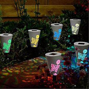 Garden Solar Power Butterfuly Pattern Colorful LED Light Outdoor Lawn Courtyard Landscape Lamp / Garden Solar Power Butterfuly Pattern Colorful LED Light . . Gardfen solar light charges up the b