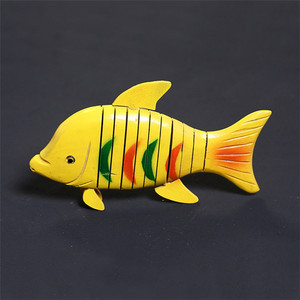 Decoration wooden art craft models color clown fish art and craft
