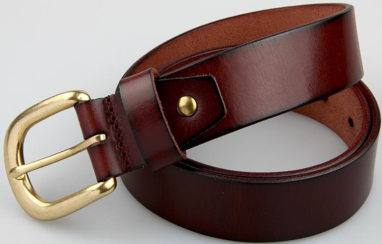 High Quality Full Grain Men Belt Top Layer Cowhide Belt Brown Belt ...