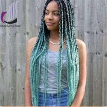 Wholesale 100 jumbo braid ombre color synthetic hair