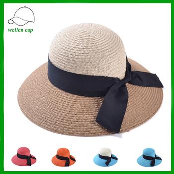 33125ca42819d4 Holiday Travel Beach Packable Shade Sun Visor Cap Beige Straw Hat ...