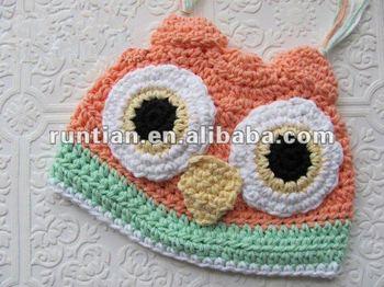 New Girls Crochet Owl Hat Buy Knitted Owl Hatgirls Crochet