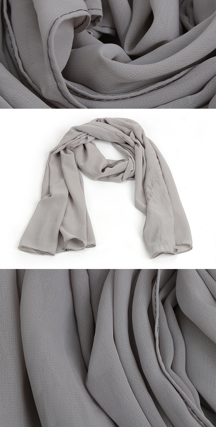 HC-XF007  low price stock women chiffon scarf for girls and lady 140*180cm