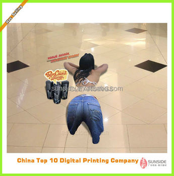 3d floor graphics with digital printing 3d floor graphic sticker for promotion