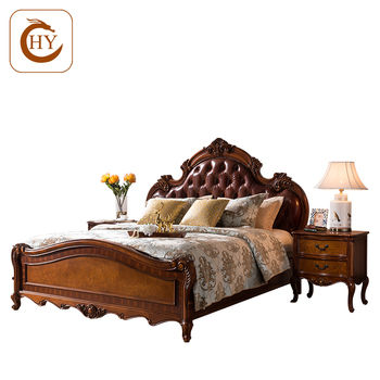 Road American Antique Wood Carving Furniture For Bedroom Sets Luxury