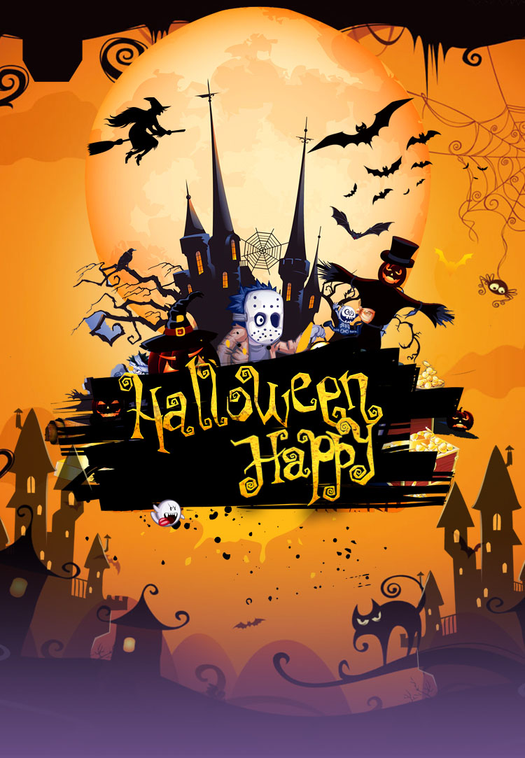 Meilun Art Crafts Halloween pumpkin paper decoration hanging paper lantern for Halloween decoration or celebration