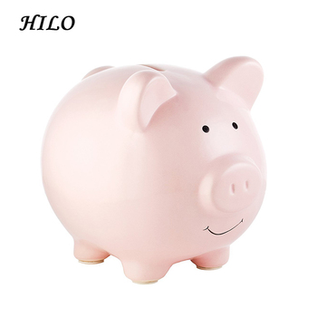 Cute Pig Shape Popular Kid Gift Ceramic Coin Bank