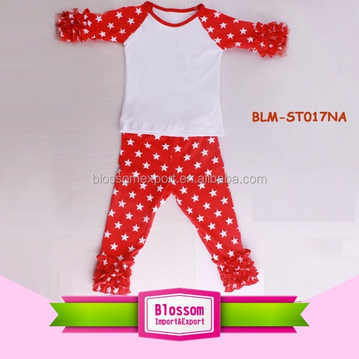 696a96c888b9 Children Baby Cotton Football Ruffle Raglan Shirts Blank Sleeved ...