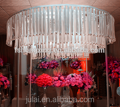 Chic wedding stage decoration with crystal /wedding decor/ wedding backdrops