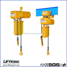 Liftking 1ton electric hook suspension and ER2 chain with trolley motor movable hoist