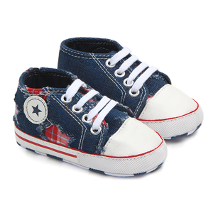 Wholesale simple canvas soft baby walking shoes toddler