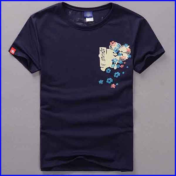 Japanese custom t shirt printing short sleeve fashion t-shirt wholesale