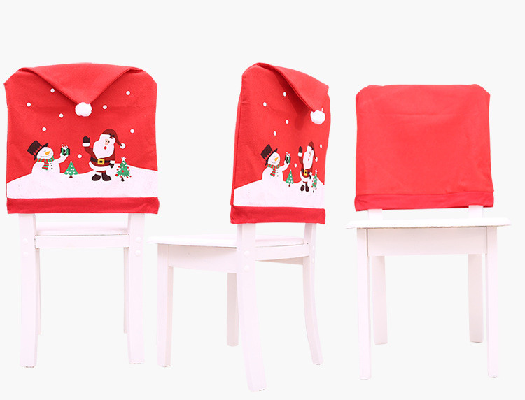 Nonwoven fabric christmas chair covers  decoration