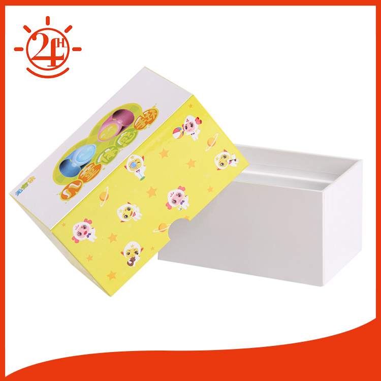 Rigid 2 pieces cute paper cartoon box for packaging with insert
