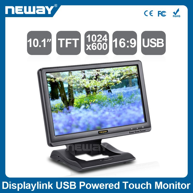 10.1 Inch USB-Powered LCD multi touch Monitor with 1024 x 600 Resolution