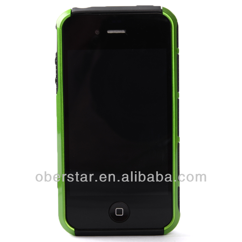 2014 New For iPhone 4 4S TPU+PC Cover Two in One Mobile Phone Hard Case