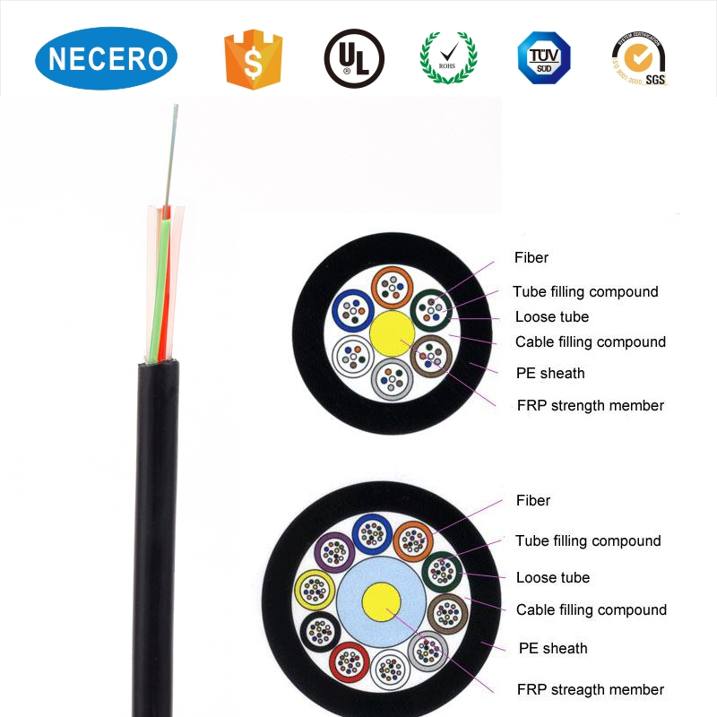 Outdoor 6 Cores Armored GYFTY Fiber Optic cable